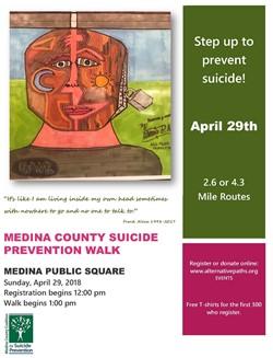 Step Up to Prevent Suicide Walk April 29