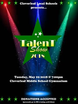 Cloverleaf Talent Show is May 29