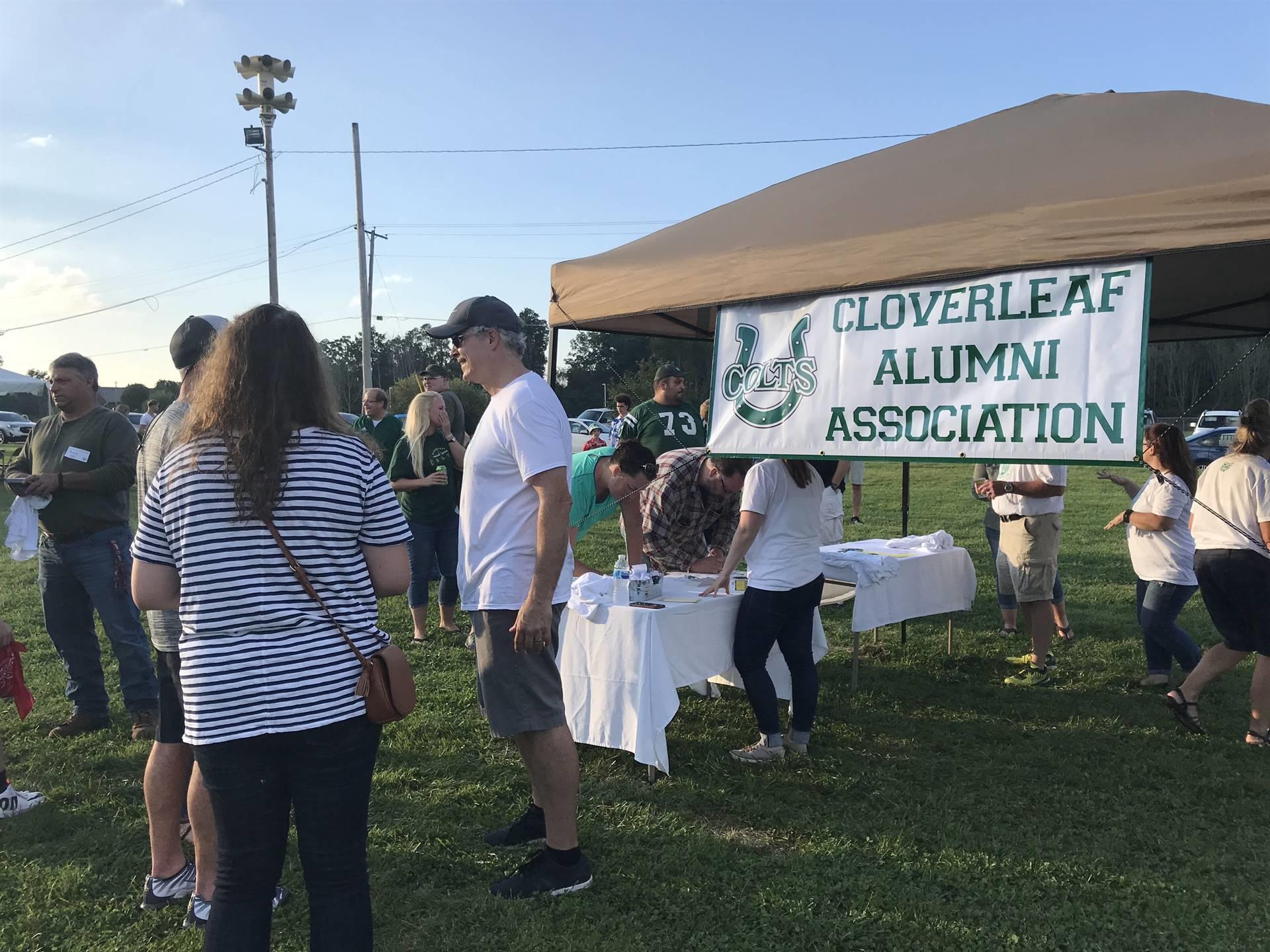 Cloverleaf Alumni Association banner