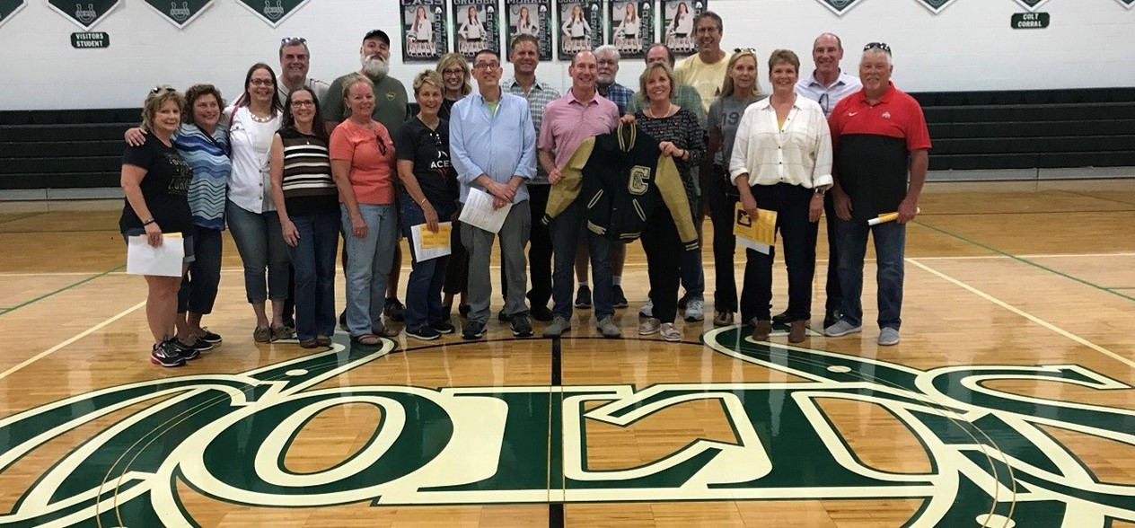 Class of 1979 members tour CHS