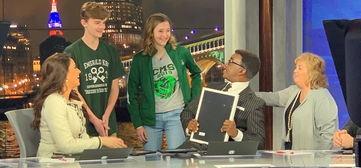CMS students at Channel 8