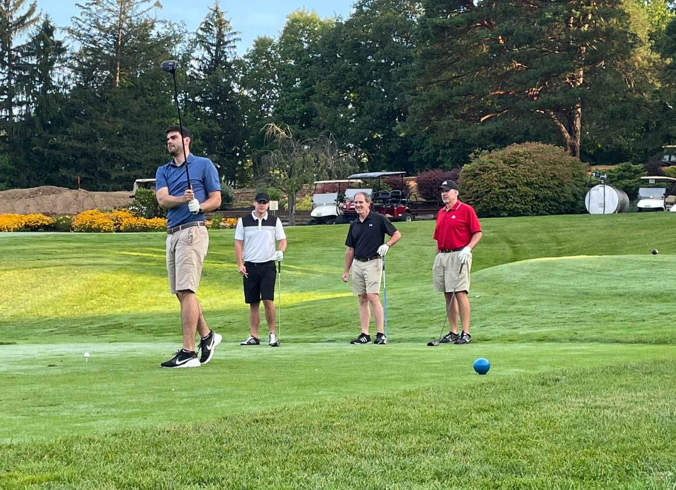 2021 Golf Outing teeing off