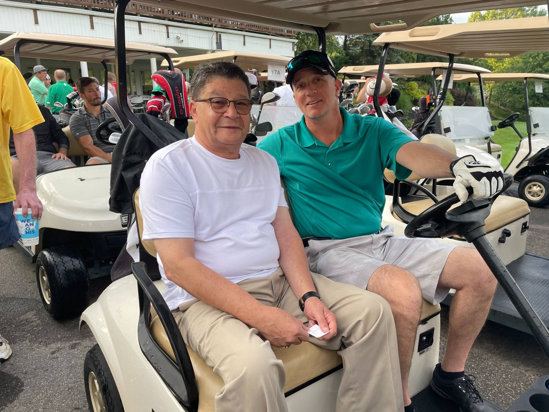 2021 Golf Outing riders in cart